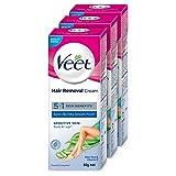 Veet Hair Removal Cream for Sensitive Skin - 32g (Pack of 3)