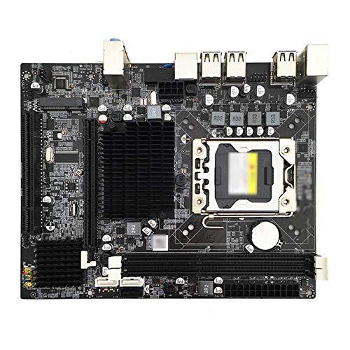WERTYU Placa Base De La Computadora Fit For X58 1366 Placa Base De Juegos Memoria del Servidor ECC SATA II para Intel LGA1366 XEON CPU PAPINARDO X5650 5670 PC Parte