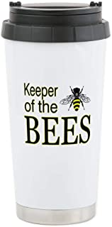 CafePress keeping bees Stainless Steel Travel Mug Stainless Steel Travel Mug, Insulated 16 oz. Coffee Tumbler
