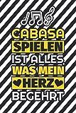 Notizbuch liniert: Cabasa spielen ist alles, was mein Herz begehrt