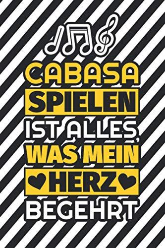 Notizbuch liniert: Cabasa spielen ist alles, was mein Herz