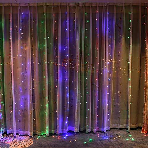 Luces de Navidad Luces de hadas de cortina LED, 300 LED de...