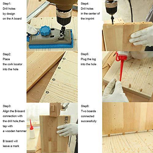CESFONJER 10 pcs perno centro di allineamento lavorazione del legno punte strumento centro di marcatura trapano Solid 12 mm centro di centraggio punte perno set di perni