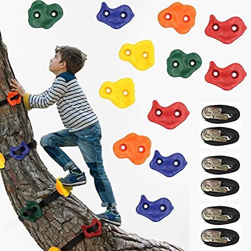 Traje de escalada de roca para niños Escalador de escalada Solicite el árbol con correas de trinquete resistente que se trepan con 6 correas de trinquete para el entrenamiento y ejercicio del guerrero