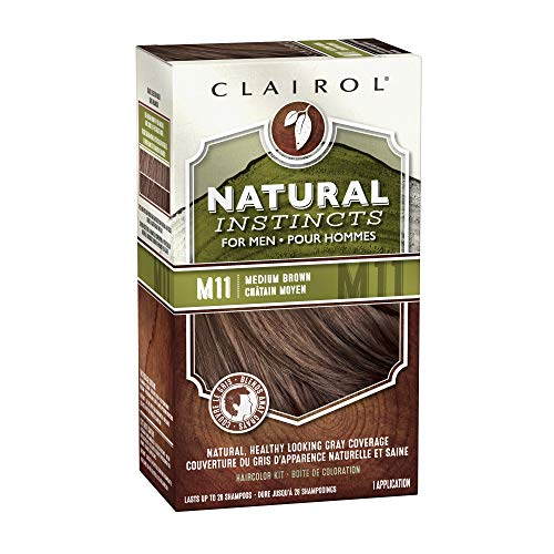 Clairol Natural Instincts Hair Color For Men M11 Medium Brown 1 Kit (Pack of 3) by Clairol