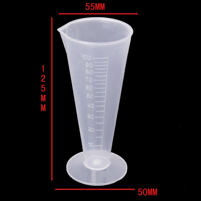 子羊ボウリング起こるF Fityle 高精度 ビーカー 計量カップ 測定カップ  研究所 キッチン用 全5サイズ プラスチック 持ちやすい - 100ml