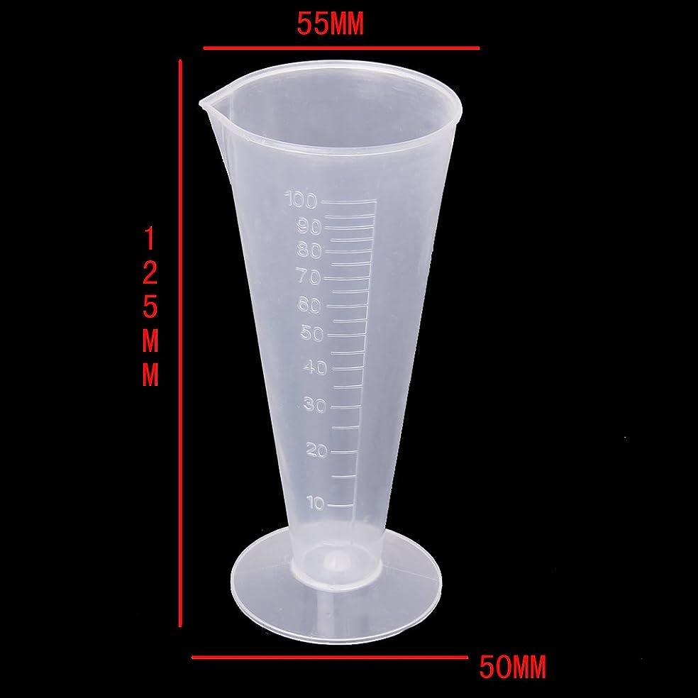 おかしいチーズ脚F Fityle 高精度 ビーカー 計量カップ 測定カップ  研究所 キッチン用 全5サイズ プラスチック 持ちやすい - 100ml