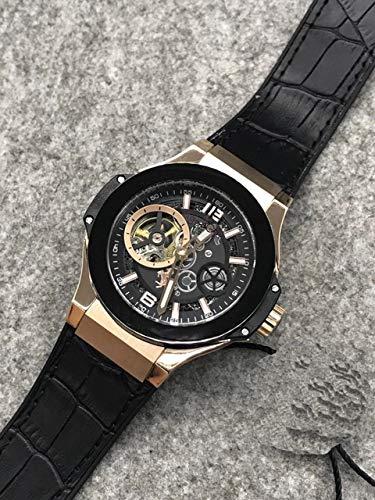 GFDSA Automatische horloges Luxe merk Herenhorloge Zilver Zwart Grijs Titanium Bruin Leer Automatische mechanische saffier Tourbillon Horloges Waterdicht