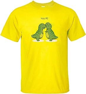 BRQ Men T Shirts Cartoon Dino Tops Cute 100% Cotton Personality Dinosaur Funny Clothing Short Sleeve
