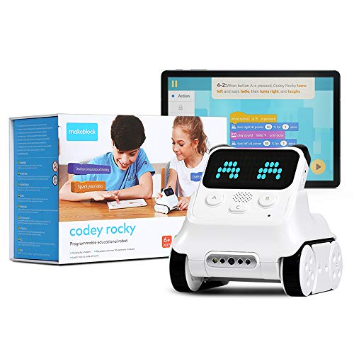 Makeblock Codey Rocky Programmable Robot, Fun Toys Gift to Learn AI, Python, Remote Control,...