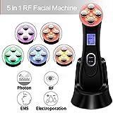Máquina de levantamiento de rostro 5 en 1 RF LED EMS Mesoterapia máquina para eliminar las arrugas acné Shrink Pores Vibración Cálido Piel Tightening Anti-Edad Dispositivo