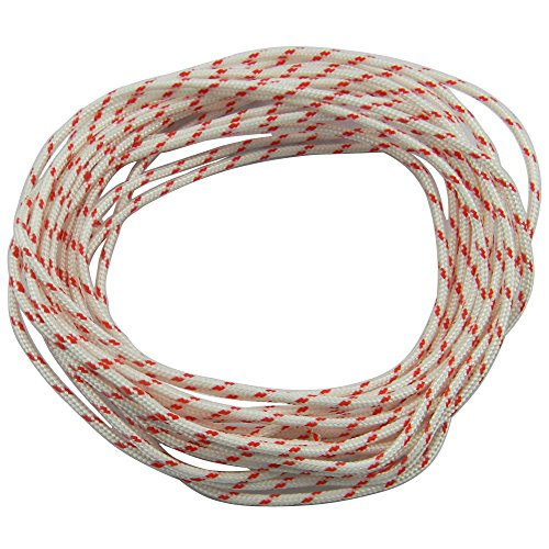 Hipa Recoil Starter Rope 10-Meter (Diameter: 3.0mm) Pull Cord for Husqvarna STIHL Sears Craftsman Poulan Lawn Mower Chainsaw Trimmer Edger Brush Cutter Engine Parts