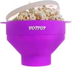 The Original Hotpop Microwave Popcorn Popper, Silicone Popcorn Maker, Collapsible Bowl Bpa Free and Dishwasher Safe- 12 Colors Available (Purple)