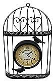 Garten-Wanduhr mit Vogelkäfig-Design