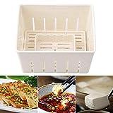 CHUN LING Molde de plástico para Prensa de Tofu de 3 Piezas, máquina para Hacer cuajada de Soja casera, Juego de Herramientas de Cocina para el hogar, 5.5 × 4.3 × 3.7in