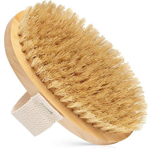 Dry Body Brush - 100% Natural Bristles - Cellulite Treatment, Increase Circulation...