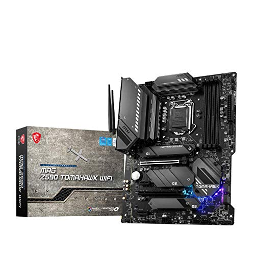 MSI MAG Z590 TOMAHAWK WIFI Placa Base Gaming ATX - Soporta Procesadores Intel Core de 11th Gen, LGA 1200 - Mystic Light, 60A VRM, DDR4 Boost (5333MHz/OC), 1 x PCIe 4.0 x16, 3 x M.2 Gen4/3 x4, Wi-Fi 6E