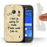 Hülle Für Samsung Galaxy Ace Style Schule der Magie Film Zitate Trouble Finds Me Design Transparent Dünn Weich Silikon Gel/TPU Schutz Handyhülle Hülle