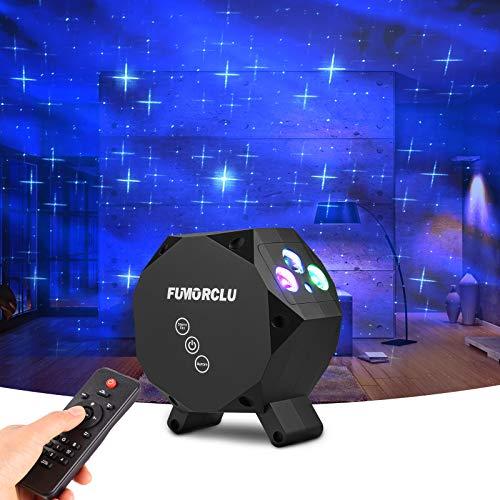Luz de proyector estrellada, proyector FUMAROLE Aurora Star, proyector Galaxy, luz nocturna LED con estrella azul, control remoto RF, altavoz de música Bluetooth para, fiesta, luz de discoteca