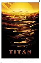 Digital Fusion Prints Titan: Ride The Tides Through The Throat Of Kraken - NASA JPL Space Tourism Travel Poster 24