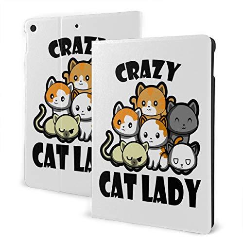 Crazy Cat Lady iPad 7th Generation Case iPad 10.2'' Cute Shell Smart Cover Auto Wake/Sleep