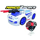 Ninco NincoRacers Police Watch Car Dragster teledirigido con reloj. Coche radiocontrol controlado por voz. Con luz y sonido. 2.4GHz. +6 años, multicolor NH93124