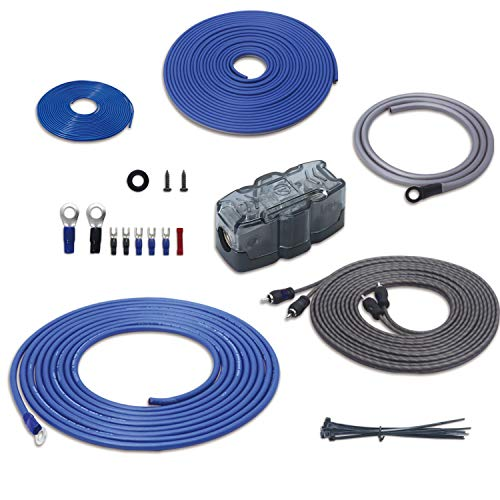 Recoil True 8 Gauge Complete Amplifier Wiring Kits with OFC RCA Cable