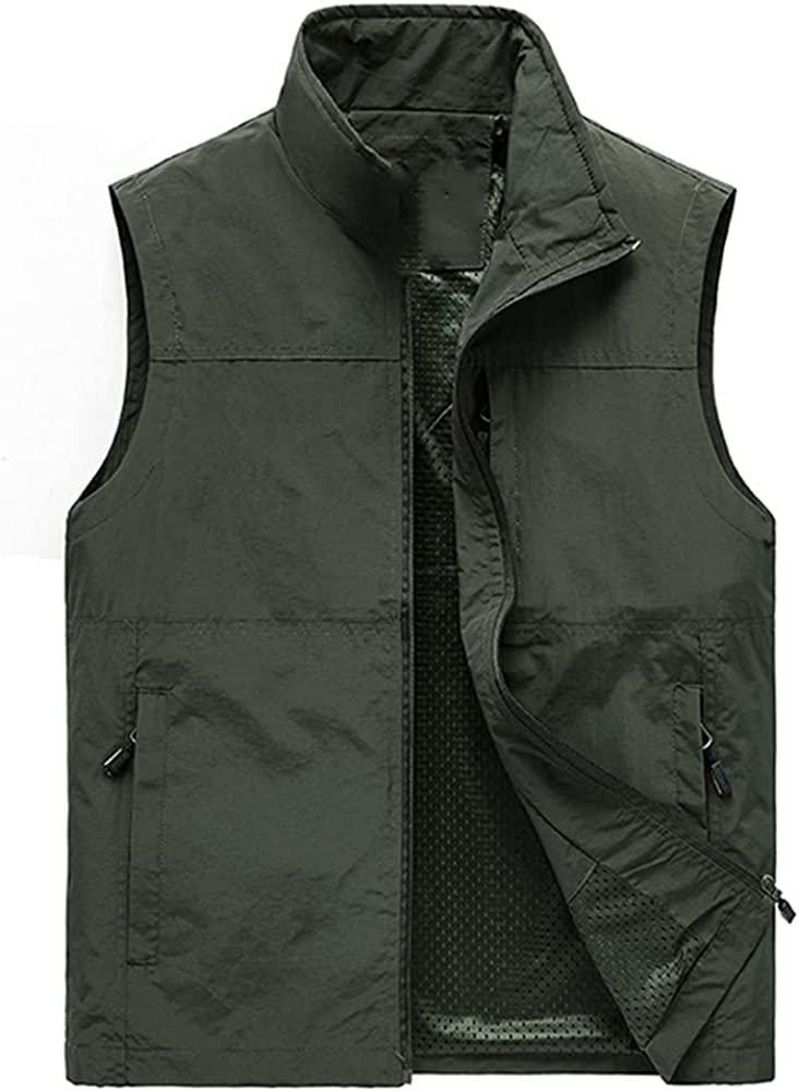 Sleeveless Vest Men Summer Waistcoat Vest Men Outdoor