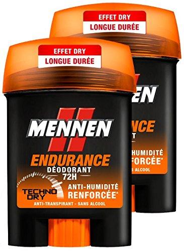 MENNEN ENDURANCE Déodorant Stick 72h Homme 50.0 ml - Lot de 2