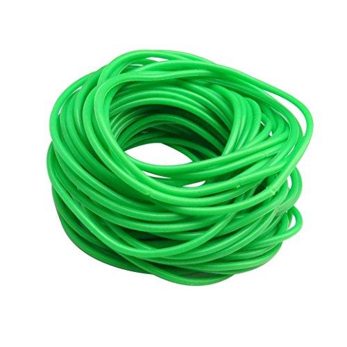 keland Braccialetti in silicone gommoso 50P Cinturini in gomma scamosciata con cinturini in gomma (verde)
