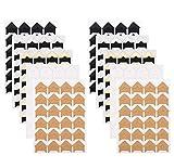 FT-SHOP Angoli Foto Adesivi 240 Pezzi Foto Angoli Autoadesivo 10 Fogli 5 Colori Montaggio Adesivi di Foto Adesivi d'Angolo di Carta per Scrapbooking Album Diario
