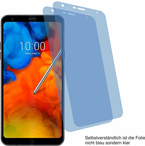 4ProTec I 2X Crystal Clear klar Schutzfolie für LG Q Stylus Bildschirmschutzfolie Displayschutzfolie Schutzhülle Bildschirmschutz Bildschirmfolie Folie