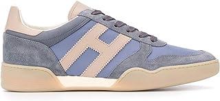 Luxury Fashion   Hogan Men HXM3570AC40N3E50BW Blue Leather Sneakers   Spring-summer 20