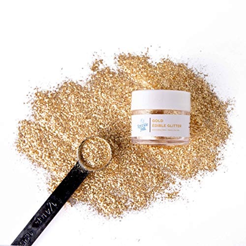 Edible Gold Glitter for Cake Decorating