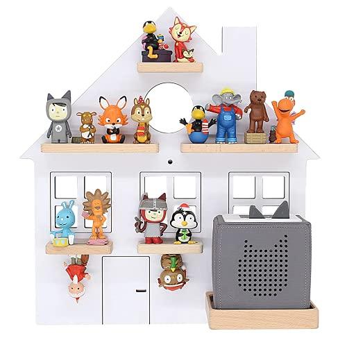 BOARTI das Original Kinder Regal Haus small in Weiß, geeignet für die Toniebox und ca. 25 Tonies - zum Spielen und Sammeln