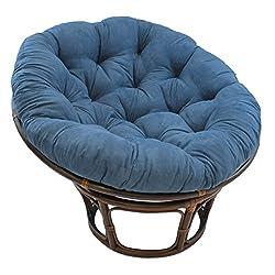 "top 10 papasan chairs Brazing Needles Papa Sunchair Cushion 48 ""x 6″ x 48 ""Indigo"