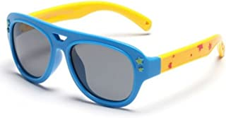 Skiworx Sports Polarized Sunglasses Silicon Flexible Frame for Boys and Girls. Color Blue.