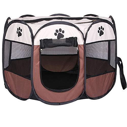 Zachte stof Draagbare opvouwbare hond Kat Puppy Kinderbox 8-zijdig, gebruik binnenshuis/buitenshuis Huisdier Kennel Cage Rabbit Pig Box Hamster Cage,001,114 * 114 * 58CM