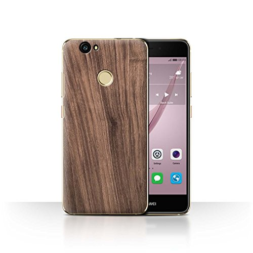 Stuff4 Hülle/Case für Huawei Nova/Nussbaum Muster/Holz/Holzmaserung Muster Kollektion