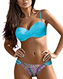 Tuopuda Costume da Bagno Donna Brasiliana Bikini Push Up Halter Regolabile Costumi da Mare Due Pezzi Bikini da Spiaggia Triangolo Top Vita Bassa Fondo Bikini Sexy Beachwear Swimwear