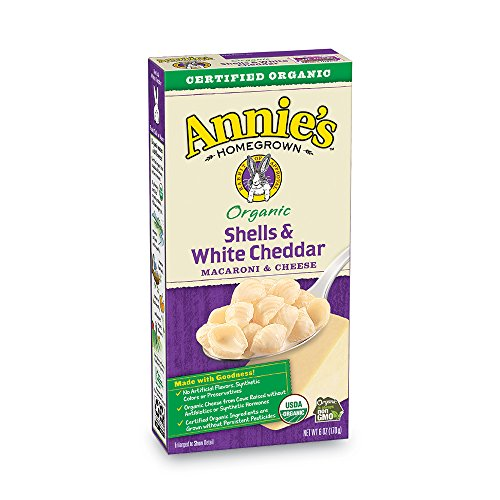 Pack of 12 Annie's Organic Shells & White Cheddar Macaroni and Cheese Now $12.74