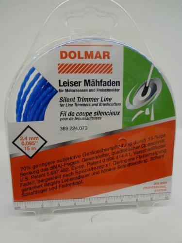 Dolmar 369224070 Leiser Mähfaden 2,4mm x 15m, Mehrfarbig