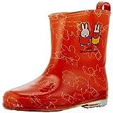 サンマルコ 長靴 60周年記念 ミッフィー総柄 PVCレインブーツ オレンジ 17cm