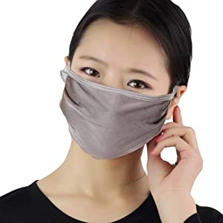 Women Silk Reusable Mask Filter PM2.5 Air Filtration Mask