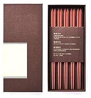 来客用箸,大人 箸 中国箸ギフト,韓国箸 再利用可能なラウンド木製の箸 子供や初心者のための適切な中国の滑り止め箸 (Color : A)