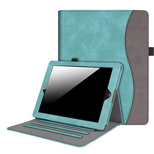 Fintie Hülle für iPad 2 / iPad 3 / iPad 4 - [Eckenschutz] Multi-Winkel Betrachtung Folio Stand Schutzhülle Cover Case mit Dokumentschlitze, Auto Schlaf/Wach Funktion, Jeansoptik Türkis