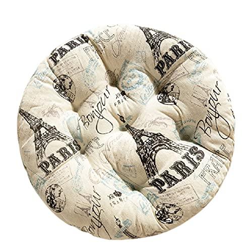 Phoeni Almohadillas blandas para silla de silla cojines acolchados cojines cojines de silla cojines para jardín, patio, cocina, comedor, silla de silla cojines suaves (redondos, 40 x 40 cm)
