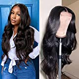 Cirvty Lace Front Wigs Human Hair Wigs for Black Women Brazilian 4x4 Body Wave Lace Closure Wigs Pre-plucked Hairline with Baby Hair 150% Density Natural Color (20 inch)