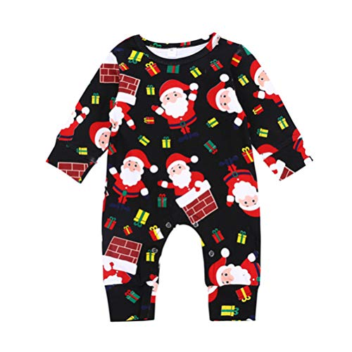 Baby Santa Claus Jumpsuits Long Sleeved X-MAS One Piece Romper Cute Christmas Coverall