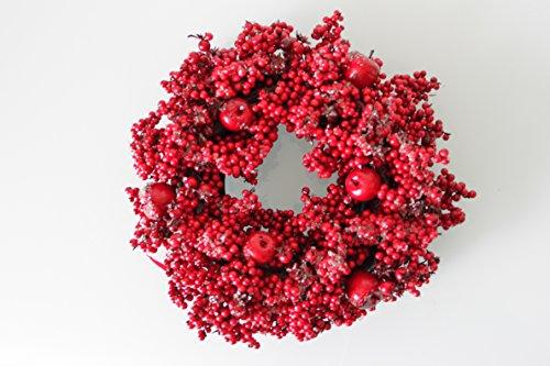 Kaemingk Kranz Beerenkranz Türkranz Dekokranz rot Beeren Äpfel Hagebutten ZuckerfinishØ 36 cm